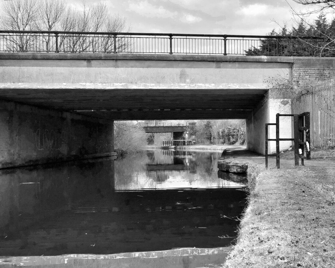 Bridge on the Leeds Liverpool canal in Liverpool, uk