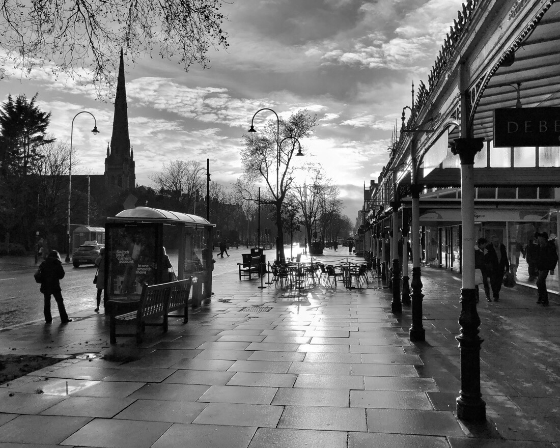 Sunday afternoon on lord street in Southport, merseyside