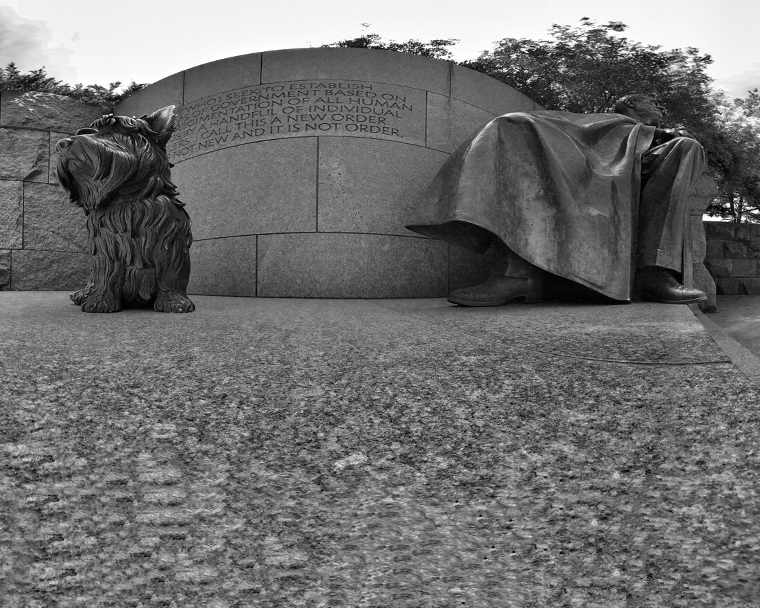 The Franklin Delano Roosevelt Memorial in Washington DC