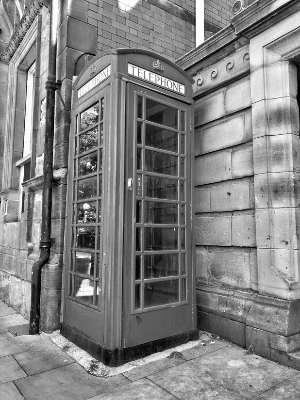 Red phone box in Southport