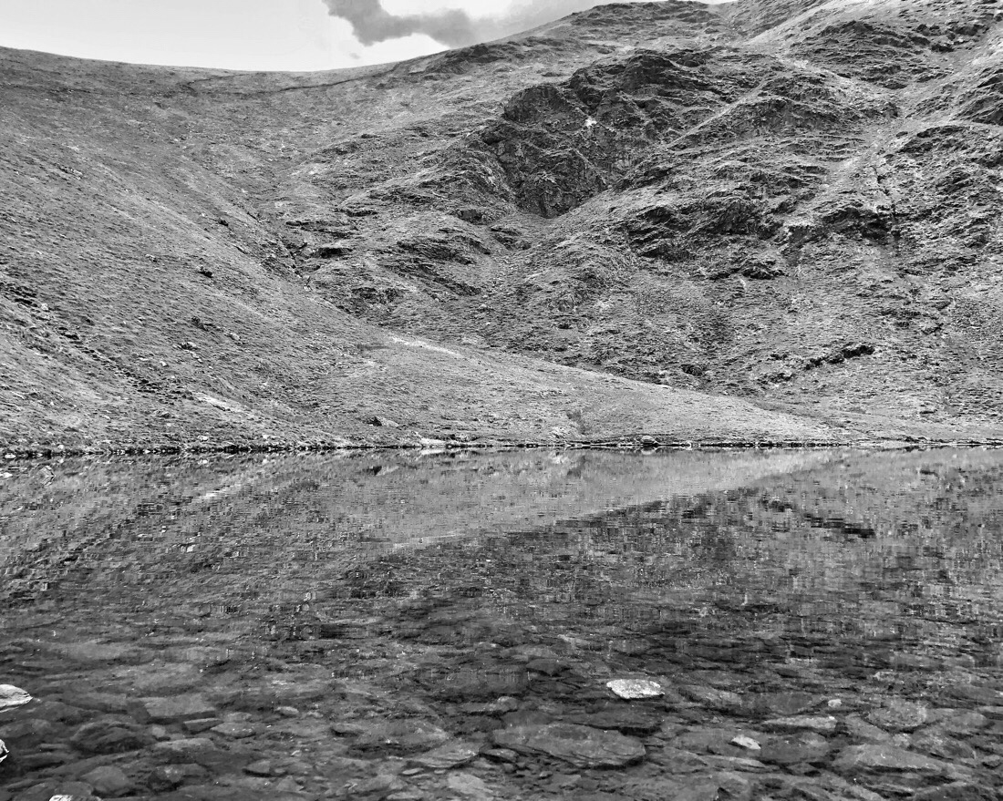 Scales tarn on Blencathra in the English Lake District