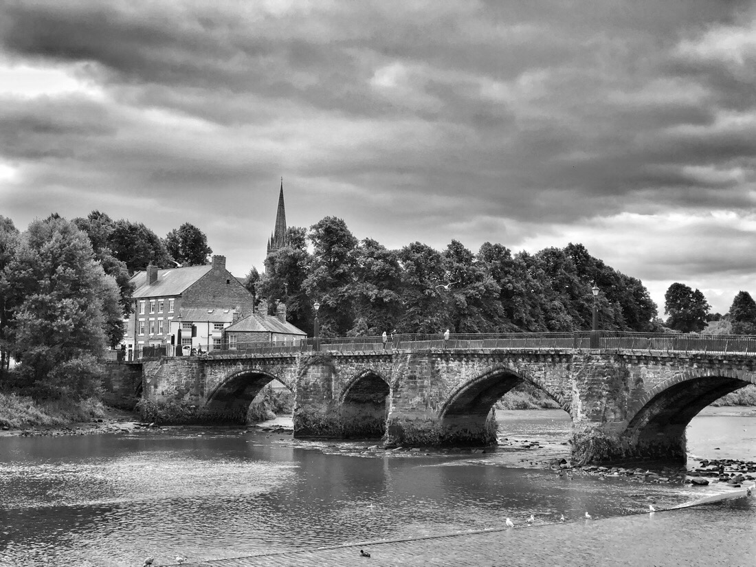 Old Dee Bridge across the River Dee in Chester, Cheshire