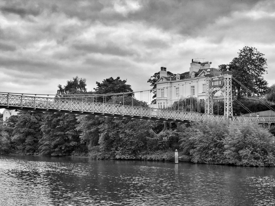 Queens Park Bridge across the River Dee in Chester, Cheshire