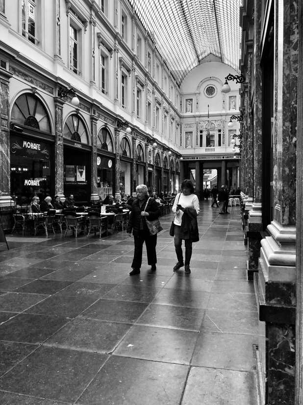 Out and about people watching in Brussels, Belgium