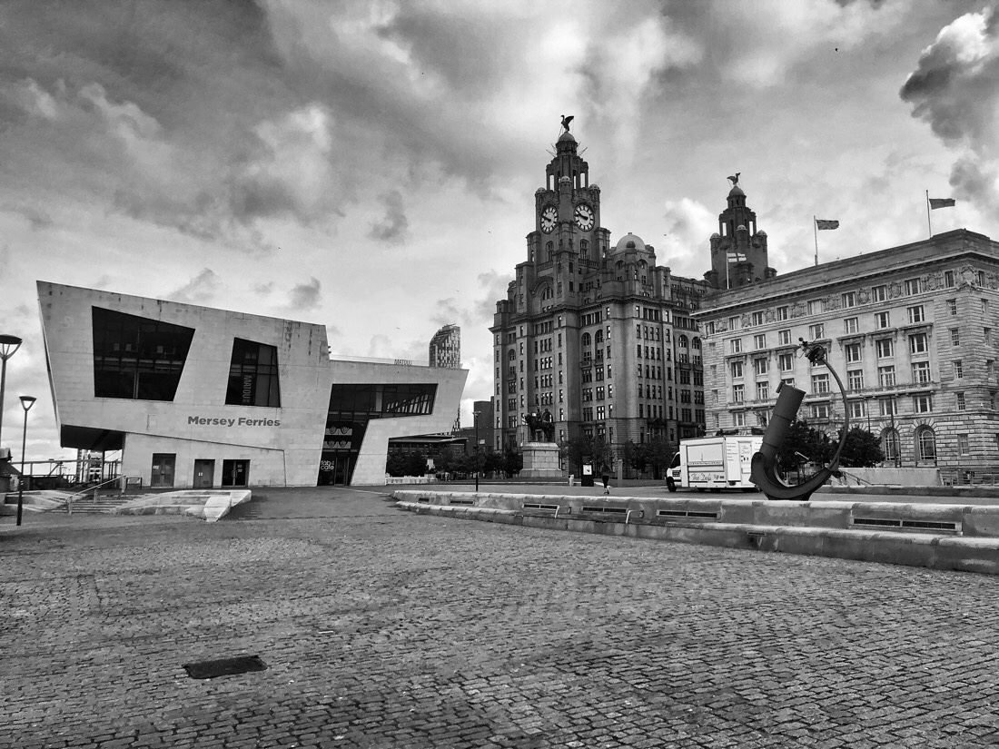Walking around The Pier Head in Liverpool, England