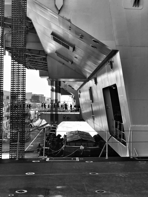 HMS Prince of Wales docked in Liverpool at the Cruise Liverpool Terminal