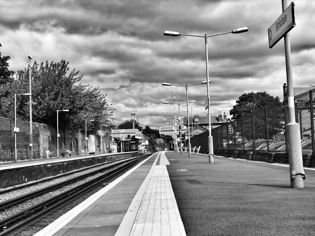 Birkdale Station on the Northern Line of the Merseyrail system in Liverpool, England