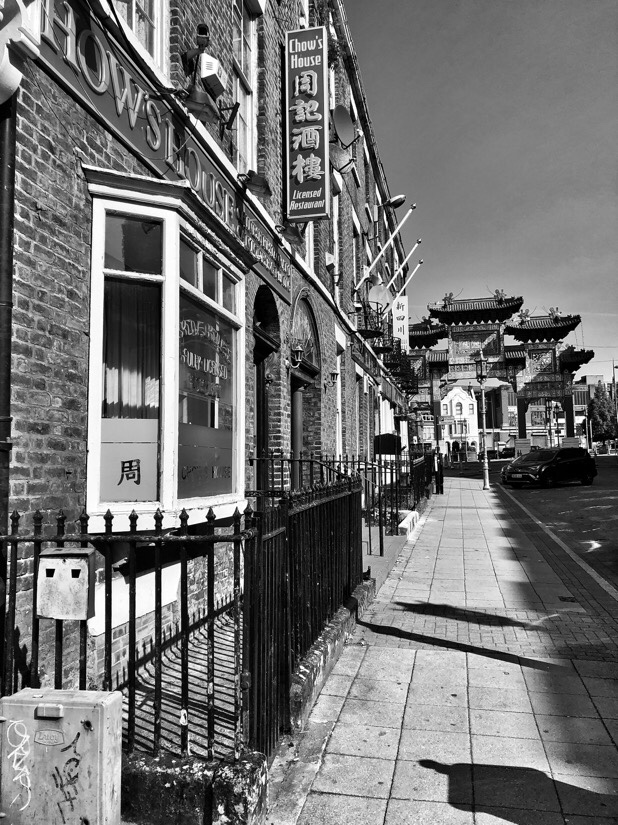 Views of Chinatown and the Chinese Arch in Liverpool, UK