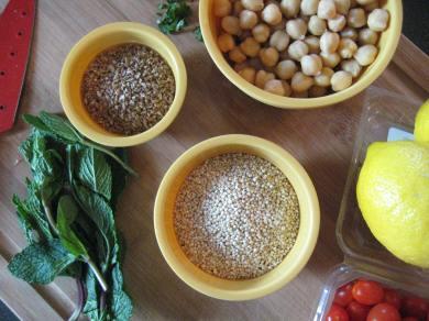 Tabbouleh Salad Prep