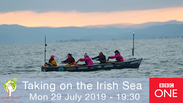 Small World TV Productions Cardiff Taking on the Irish Sea rowing sailing CELTIC CHALLENGE