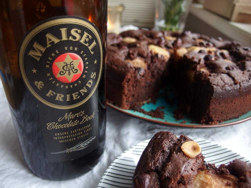 Schokokuchen mit Marc's Chocolate-Bock und Birne