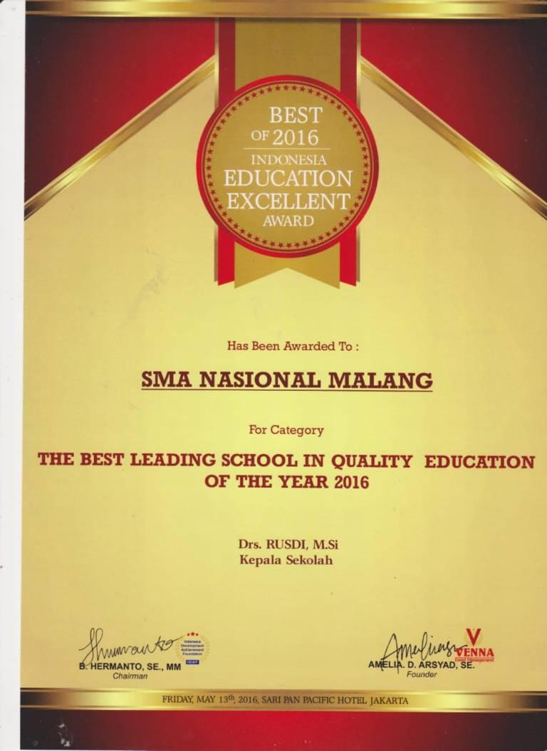 Prestasi SMA Nasional Malang