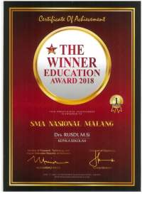 Prestasi 1 - The Winner Education Award 2018