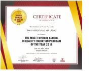 Prestasi 11 - The Most Favorite School