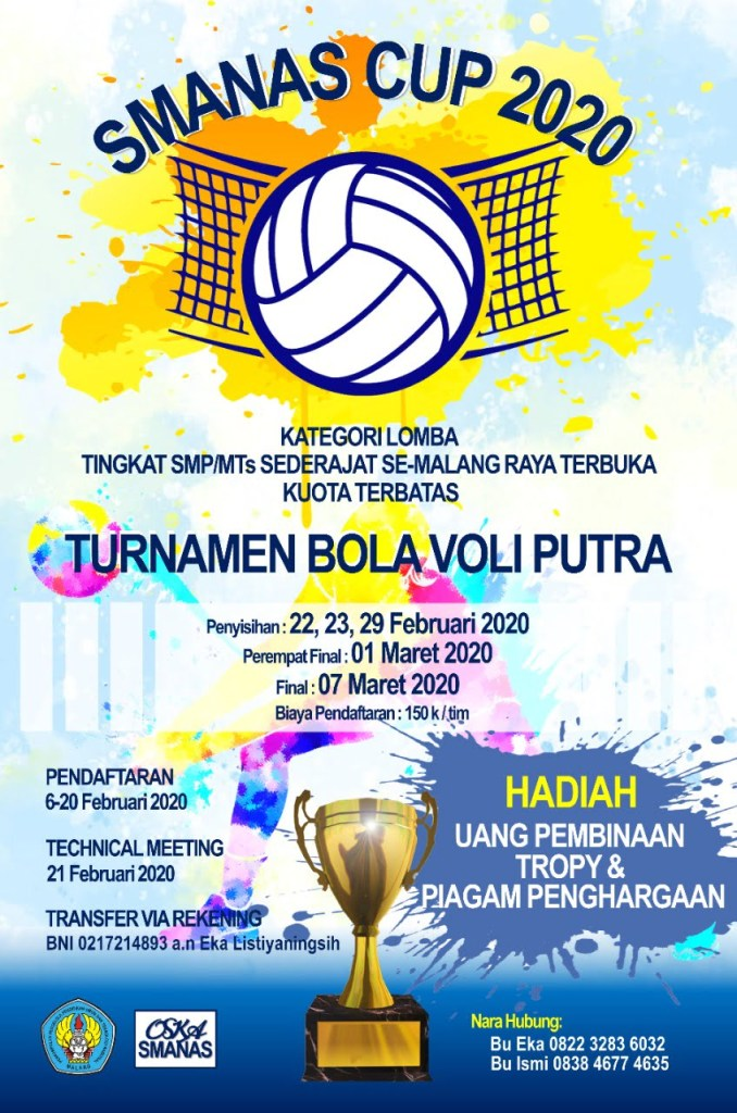 Volleyball SMANAS Cup & Dance Competition 2020 2