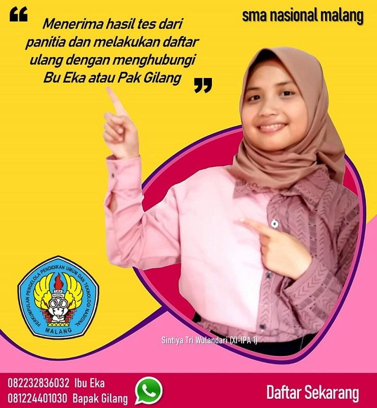 Alur PPDB Online SMA Nasional Malang 4