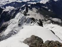 Cresta Signal ormai oltre la sezione nevosa