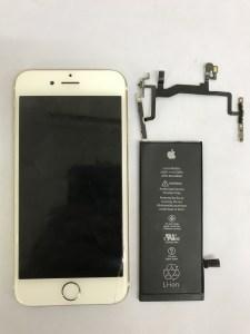 IMG 3097 225x300 - 小倉北区よりiPhone6Sのバッテリー交換・ボリュームスリープケーブル交換