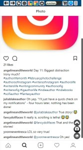 @angelineandtheworld post about distraction- Got a good number of likes