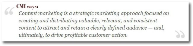 Content Marketing institute definition of content marketing
