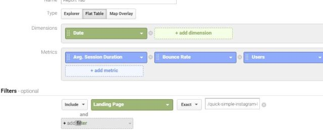 Creating a simple custom report in google analytics