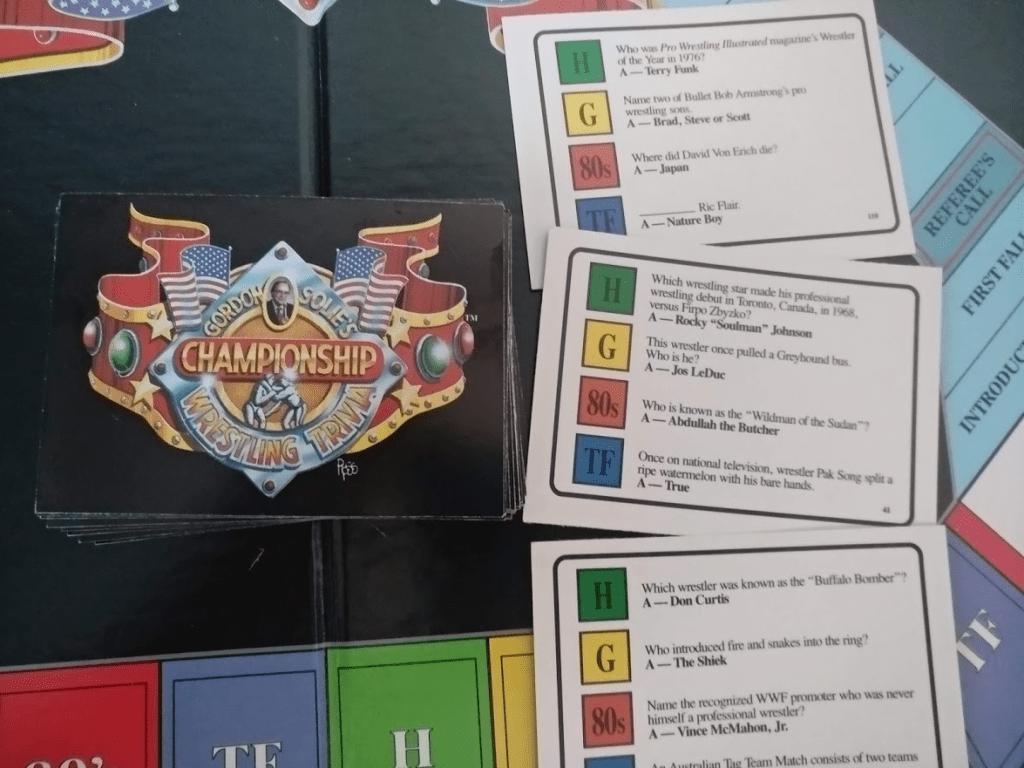 Esimerkkejä Gordon Solie's Championship Trivia Gamen kysymyksistä