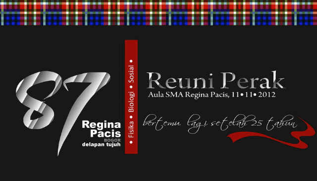 Reuni Perak Sma Regina Pacis Bogor 1987 11 November 2012
