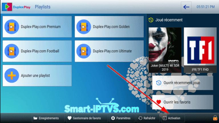 comment payer pour l'application Duplex iPTV1 FR