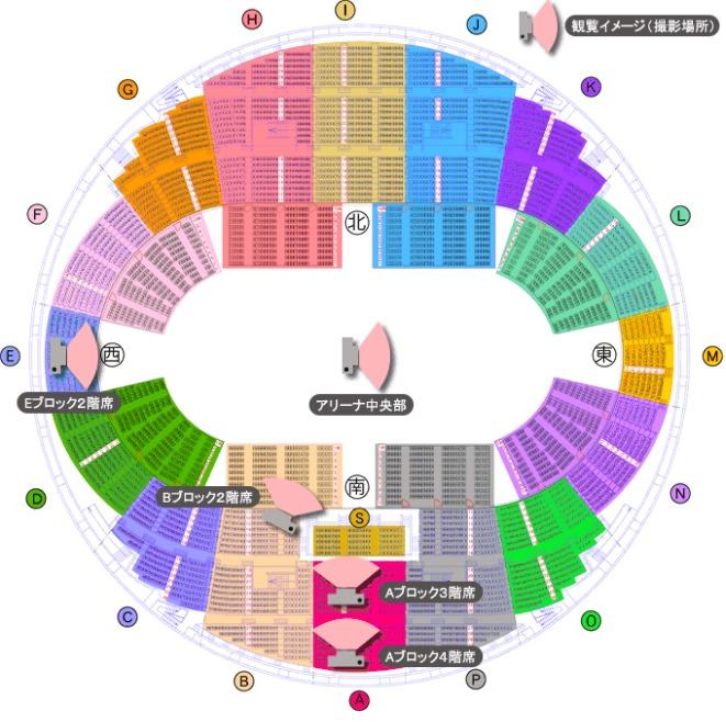 日本ガイシホールの座席表の画像とキャパは?