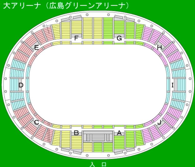 広島グリーンアリーナの座席表とキャパは?
