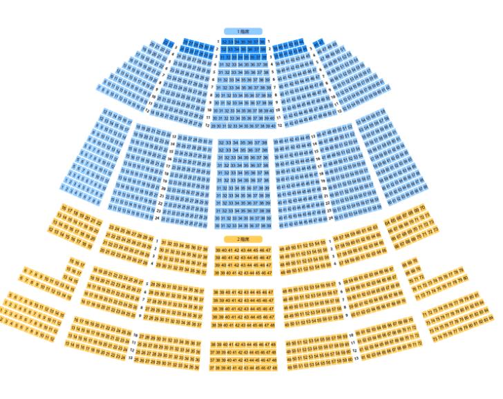 広島文化学園HBGホールの座席表とキャパは?