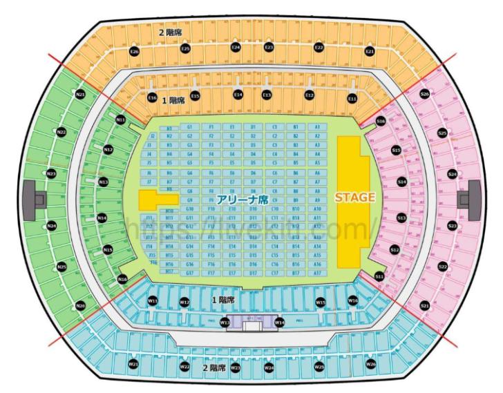 日産スタジアムの座席表とキャパは?