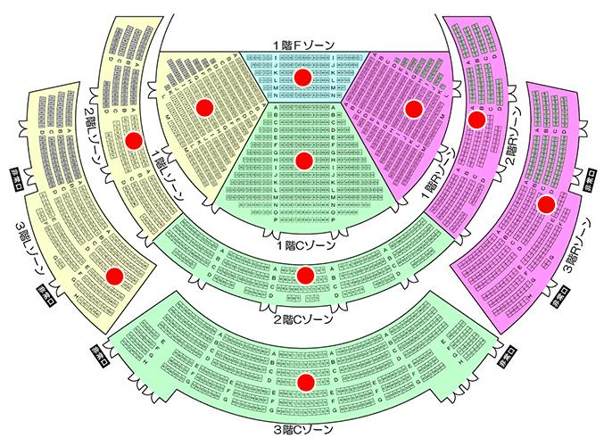 仙台サンプラザホールの座席表やキャパは?