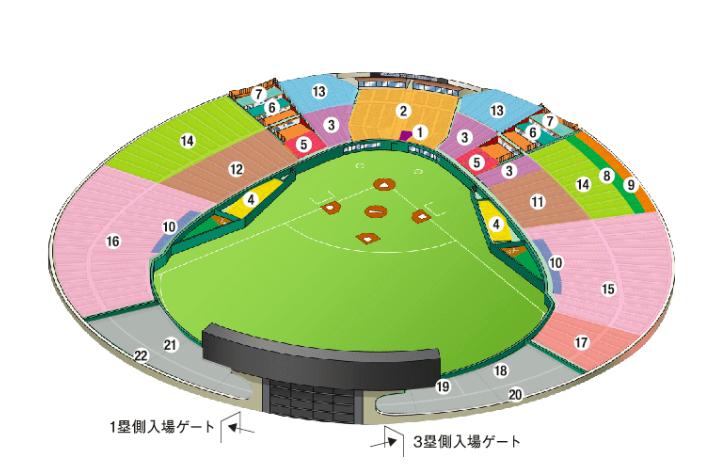 メットライフドーム(西武ドーム)の座席表の画像やキャパは?