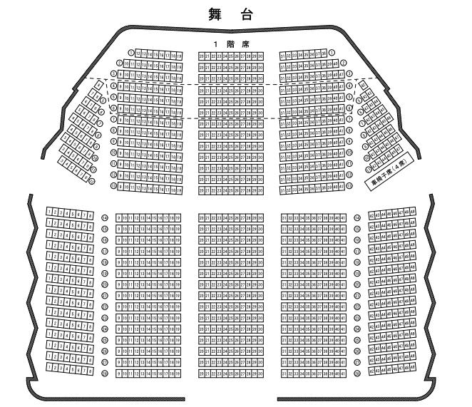 金沢歌劇座の座席表とキャパは?
