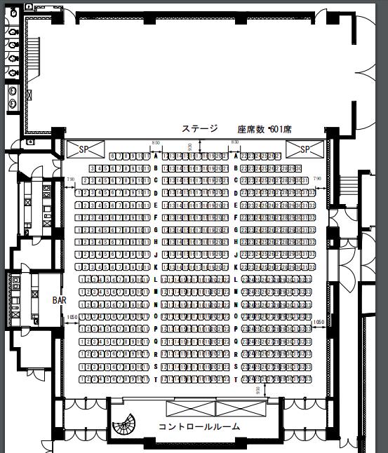 クラブチッタ川崎の座席表やキャパは?