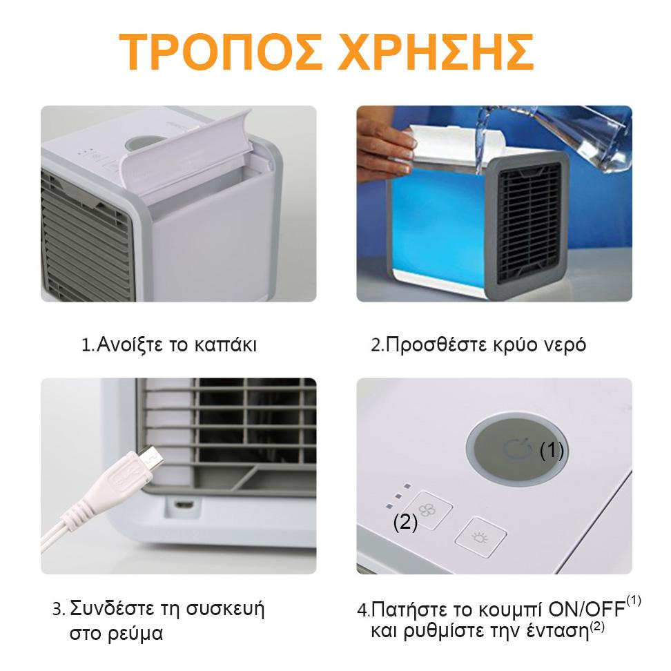 τρόπος χρήσης air cooler