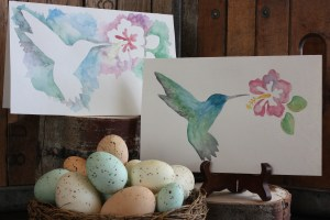 Using vinyl as a watercolor stencil