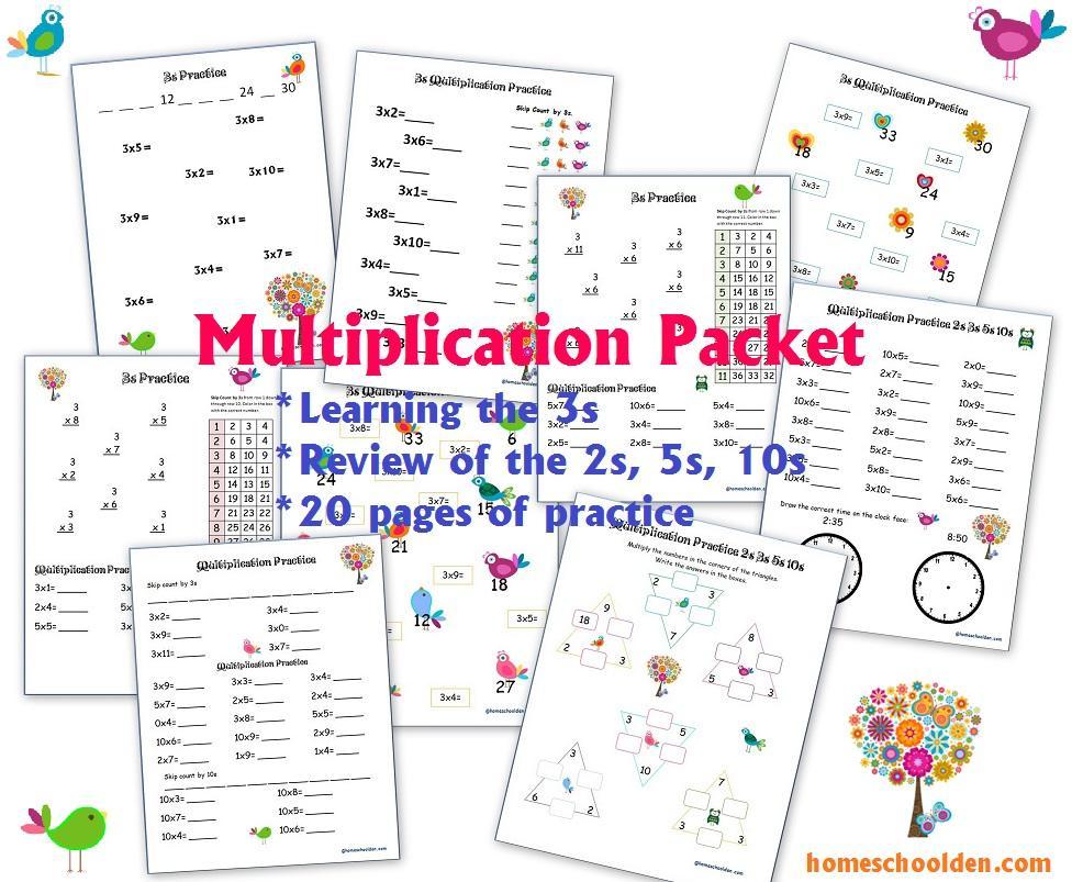 K5 Learning Multiplication Worksheets