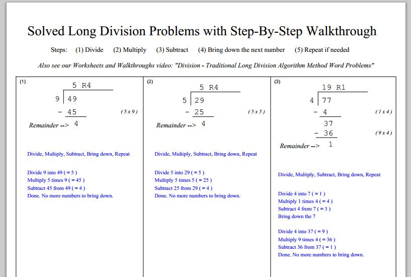 Multiplication Worksheets And Answer Key 1