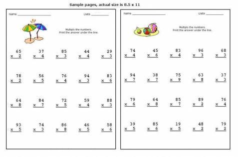 Multiplication Worksheets Big Numbers