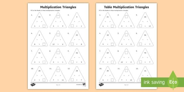 Multiplication Worksheets Mixed Times Tables 7