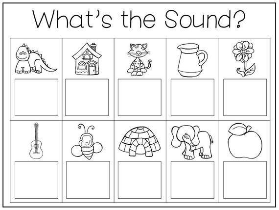 Free Preschool Beginning Sounds Worksheets