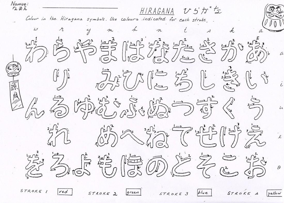 Japanese Preschool Worksheets 4