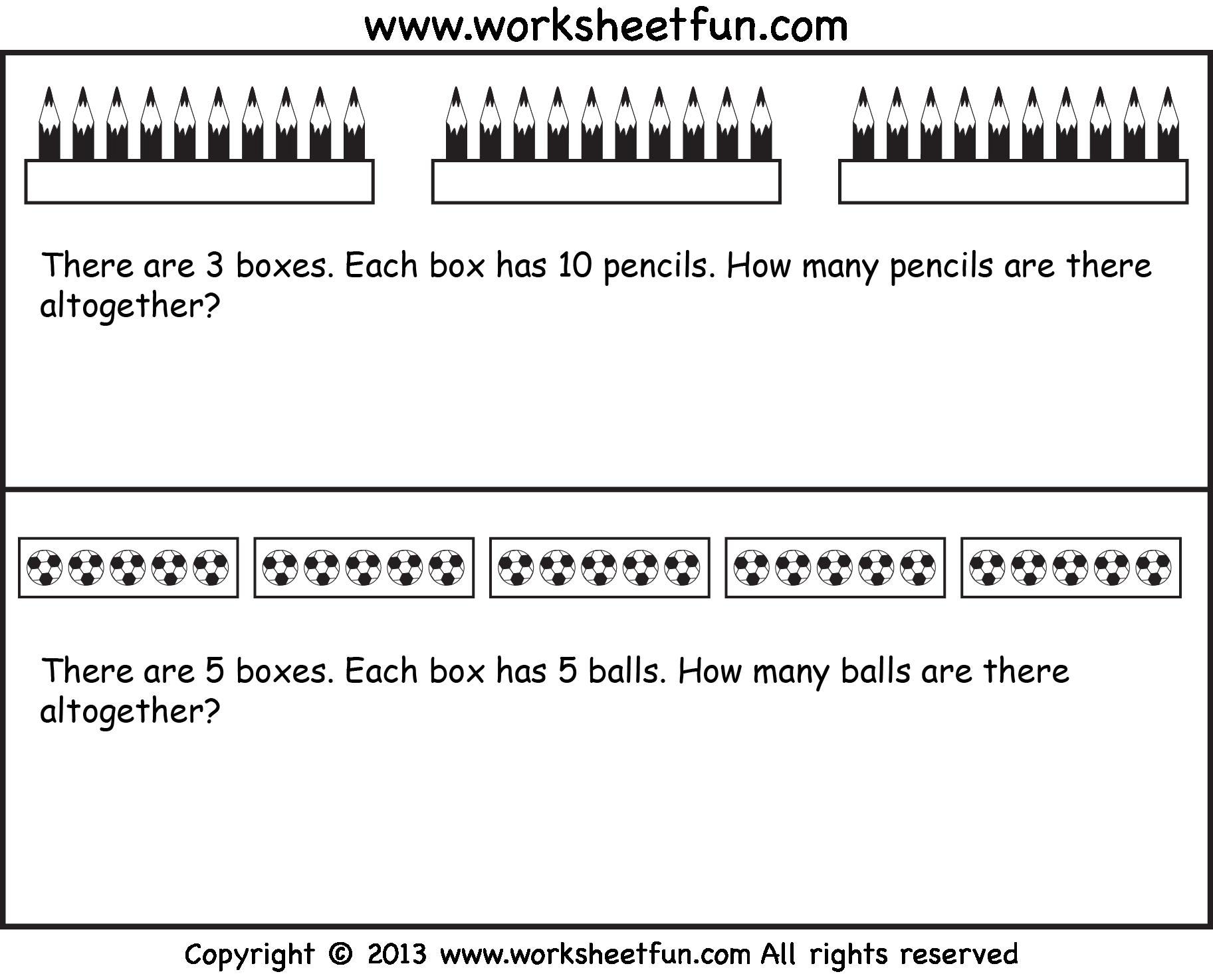 Multiplication As Repeated Addition Worksheets Grade 2 Pdf