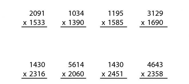 Multiplication Practice Worksheets 5th Grade
