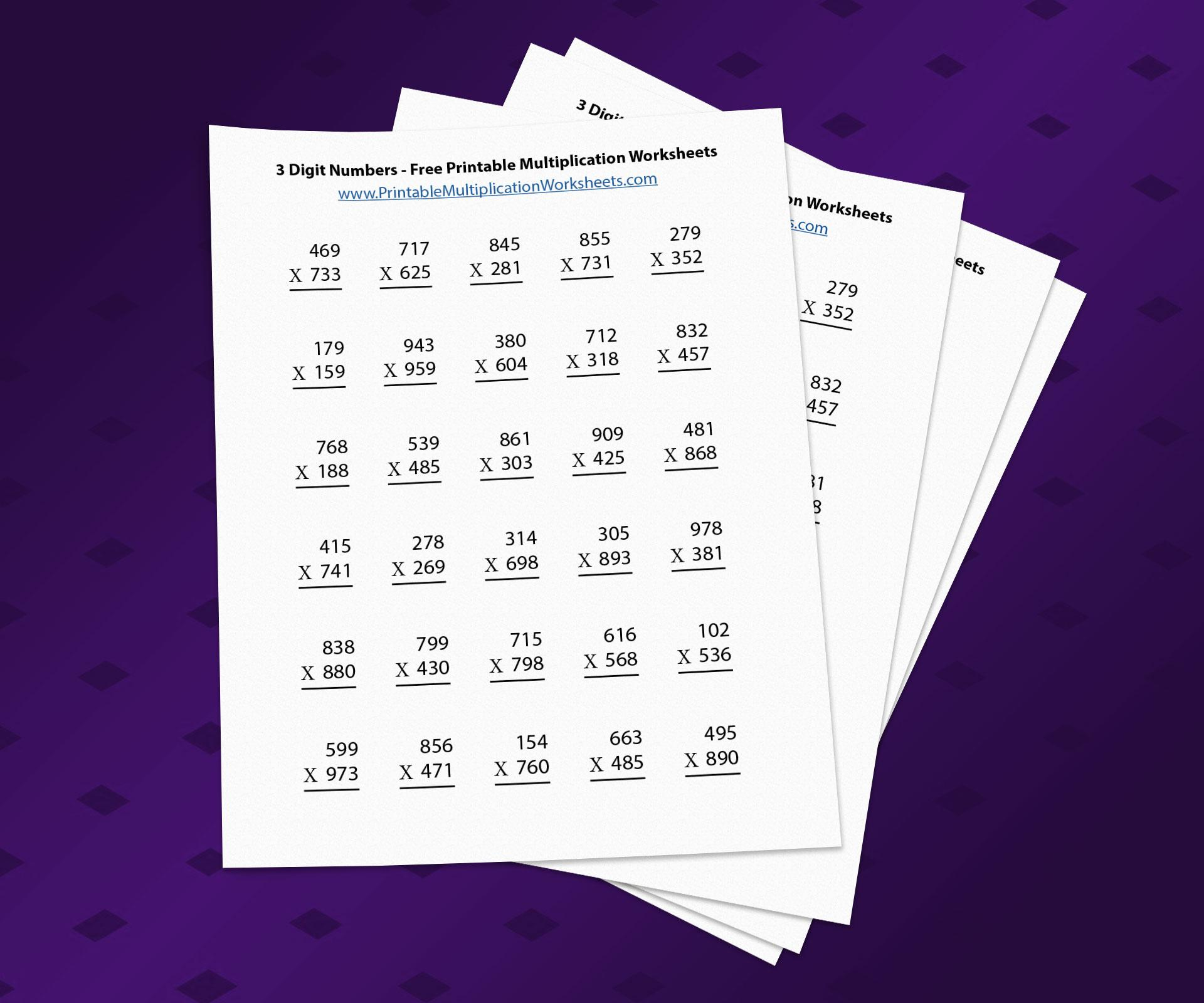 Multiplication Worksheets 3 Digit