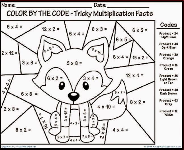 Multiplication Worksheets With Pictures Pdf