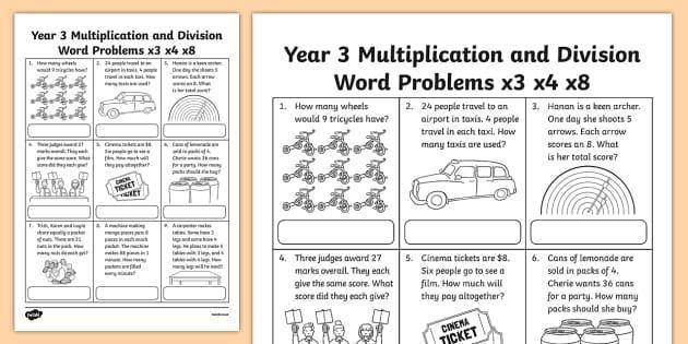 Multiplication X3 Worksheets Pdf