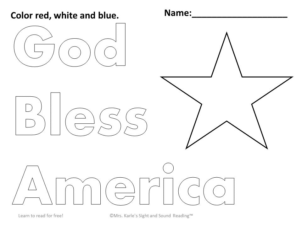 Preschool Fourth Of July Worksheets 3